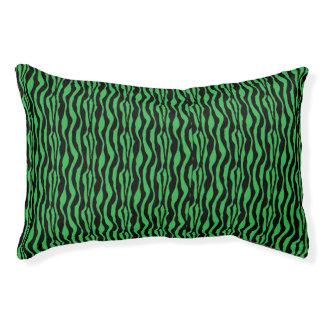 Schickes grünes Zebra-Druck-Muster Haustierbett