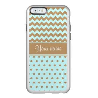 Schickes Kamel-Sparren-Tupfen-Baby-Blau Incipio Feather® Shine iPhone 6 Hülle