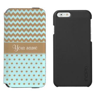 Schickes Kamel-Sparren-Tupfen-Baby-Blau Incipio Watson™ iPhone 6 Geldbörsen Hülle