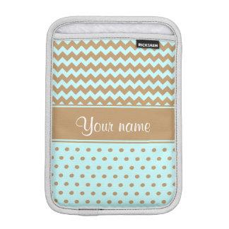 Schickes Kamel-Sparren-Tupfen-Baby-Blau iPad Mini Sleeve
