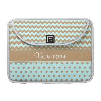 Schickes Kamel-Sparren-Tupfen-Baby-Blau Sleeve Für MacBook Pro