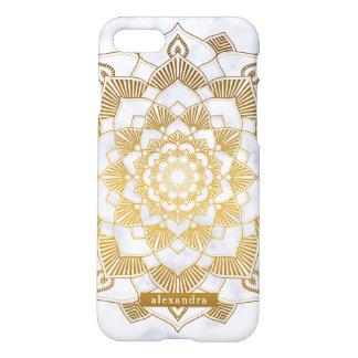 Schickes Marmor-und GoldMandala-Muster iPhone 8/7 Hülle