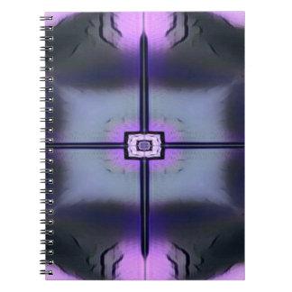 Schickes rosa schwarzes symmetrisches Muster Notizblock