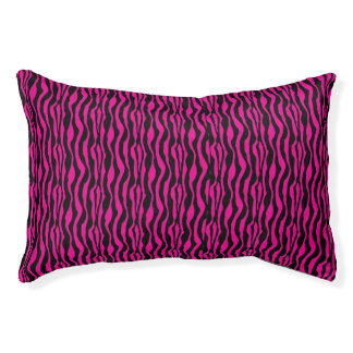 Schickes rosa Zebra-Druck-Muster Haustierbett