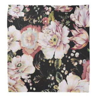 schickes schwarzes Blumen des böhmischen Kopftuch