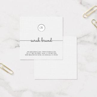 Schickes unbedeutendes Monogramm Quadratische Visitenkarte