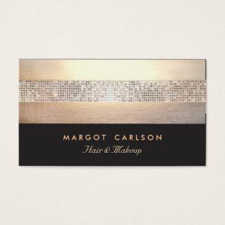 Schickes und elegantes Paillette-Goldschwarzes Visitenkarten