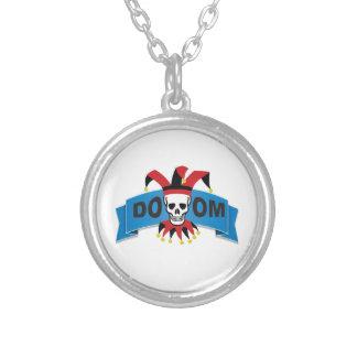 Schicksalstodesbild Halskette Mit Rundem Anhänger