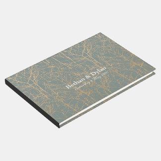 "Schiefer-""Baum-"" Gast-Buch Gästebuch"