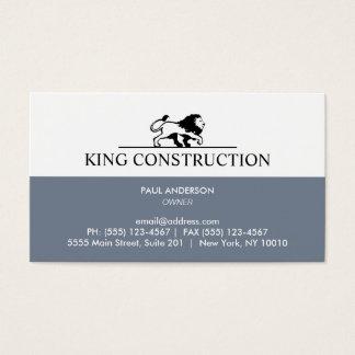 Schiefer-blaues und weißes Löwe-Logo Visitenkarte