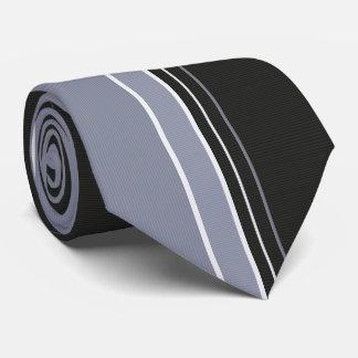 Schiefer-Grau u. Schwarzes Pinstriped Bedruckte Krawatten