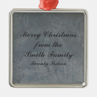Schiefer-Grau-venezianisches Gips-Weihnachten Silbernes Ornament