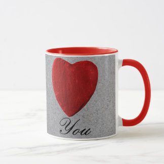 Schieferhintergrund Love you Tasse