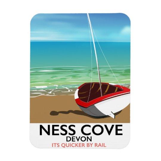Schienen-Reiseplakat Ness-Abdeckungs-Devons Eckige Magnete