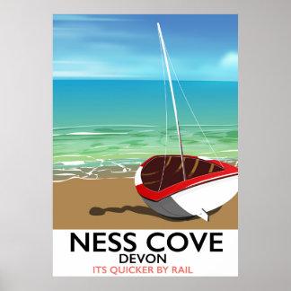 Schienen-Reiseplakat Ness-Abdeckungs-Devons Poster
