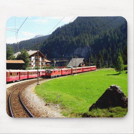 Schienenreise nach Arosa, die Schweiz Mauspad