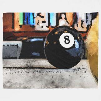 Schießen für den Ball acht Fleecedecke