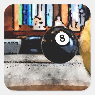 Schießen für den Ball acht Quadratischer Aufkleber