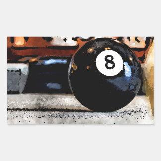 Schießen für den Ball acht Rechteckiger Aufkleber