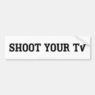 Schießen Sie Ihren FernsehAutoaufkleber Autoaufkleber