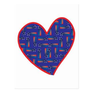 Schießen-Stern-Herz Postkarte