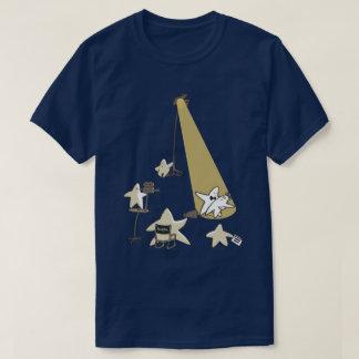 Schießen-Stern-lustige T-Shirt