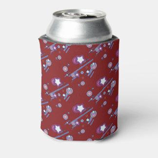 Schießen-Sterne und Kometen-rotes Bier Dosenkühler