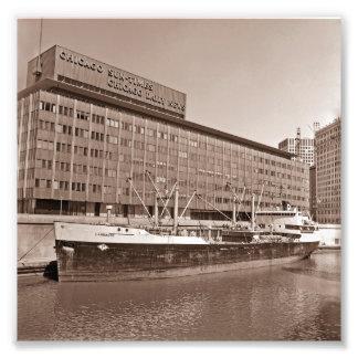 Schiff 1967 Chicagos Sun Zeit-Gbd Great Lakes Fotodruck