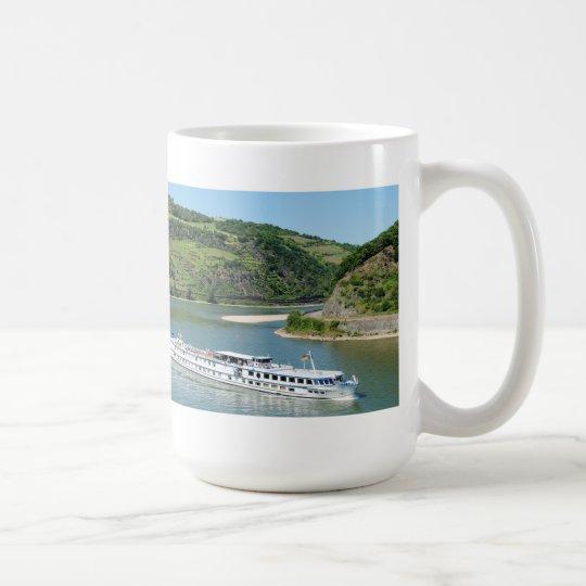 Schiff auf dem Rhein bei Oberwesel Kaffeetasse