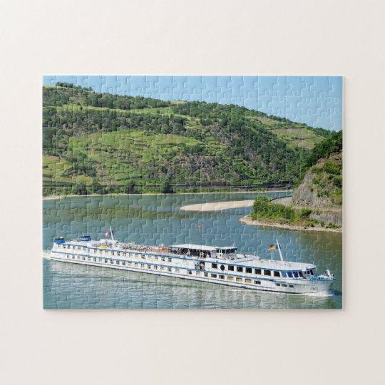 Schiff auf dem Rhein bei Oberwesel Puzzle