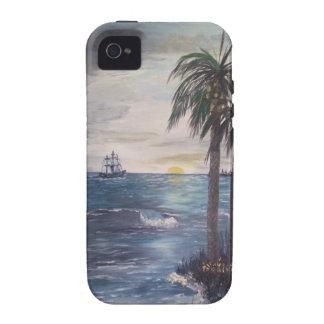 Schiff auf der Horizont-Golf Ufer-Einlass-Strand K iPhone 4/4S Case