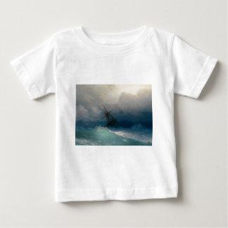 Schiff auf stürmischen Meeren, Iwan Aivazovsky - Baby T-shirt