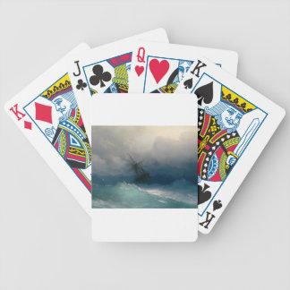 Schiff auf stürmischen Meeren, Iwan Aivazovsky - Bicycle Spielkarten