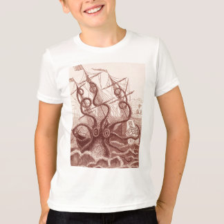 Schiff gegen Krake T-Shirt