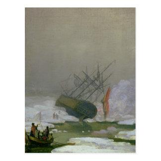 Schiff im polaren Meer, am 12. Dezember 1798 Postkarte