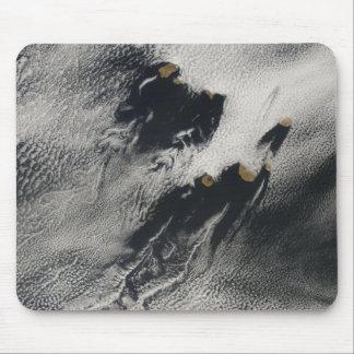 Schiff-Welle-förmige Wellenwolken- und Mousepad