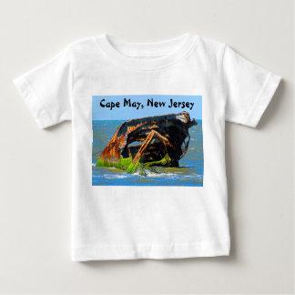Schiffbruch-abstraktes Blau Baby T-shirt