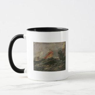 Schiffbruch auf einem felsigen Ufer, c.1645-50 Tasse
