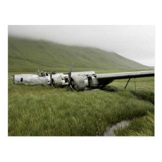 Schiffbruch der Weltkriegflugzeuge auf Atka Insel Postkarte