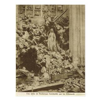 Schiffbruch innerhalb einer bombardierten Kirche, Postkarte