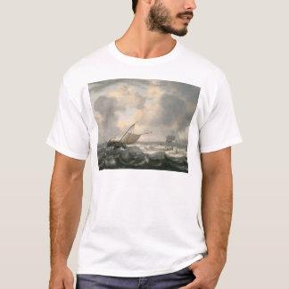 Schiffe auf einem Choppy Meer T-Shirt