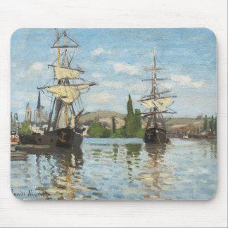 Schiffe Claude Monets |, die auf die Seine in Mauspads