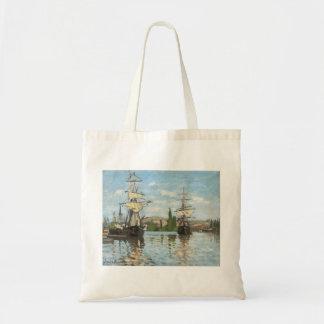 Schiffe Claude Monets |, die auf die Seine in Tragetasche