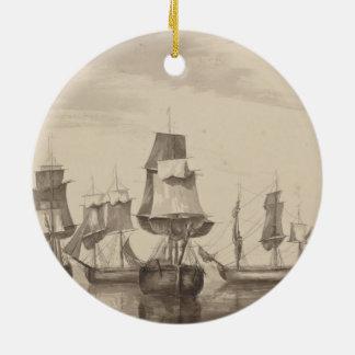 Schiffe vom 26. Juni 1776 Keramik Ornament