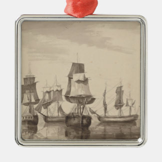 Schiffe vom 26. Juni 1776 Silbernes Ornament