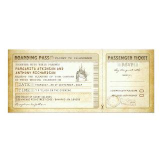 Schiffs-Boarding-Durchlaufhochzeit Karte-lädt u. 10,2 X 23,5 Cm Einladungskarte