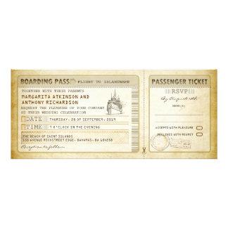 Schiffs-Boarding-Durchlaufhochzeit Karte-lädt u Ankündigungen
