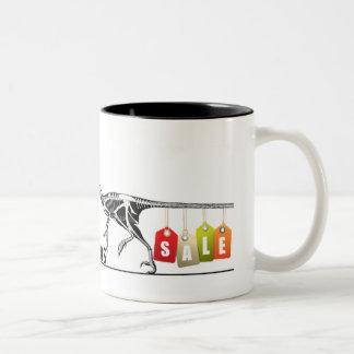 Schiffs-Dinosaurier-Tasse Zweifarbige Tasse