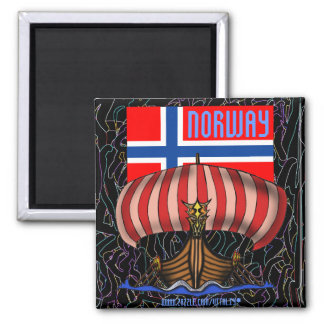 Schiffs-Magnetentwurf Norwegens cooler Wikinger Quadratischer Magnet