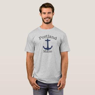 Schiffs-Seeanker-Shirt Portlands Maine hohes T-Shirt